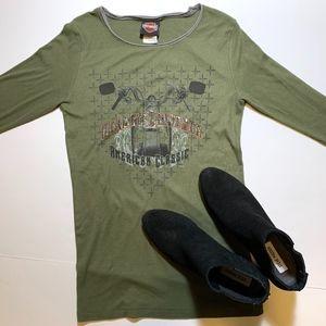 HARLEY DAVIDSON Embellished Long Sleeve Women's
